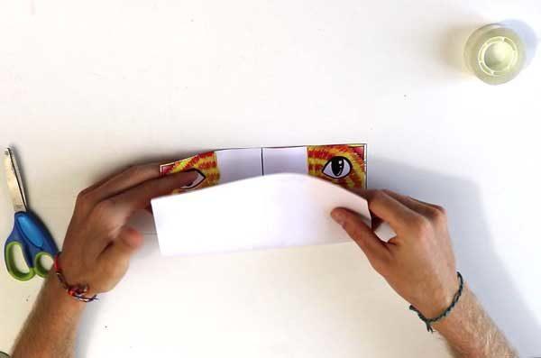Faire une cocotte en papier - étape 2