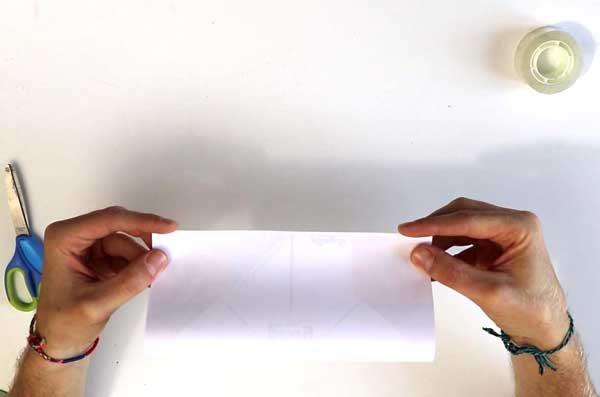 Faire une cocotte en papier - étape 2a