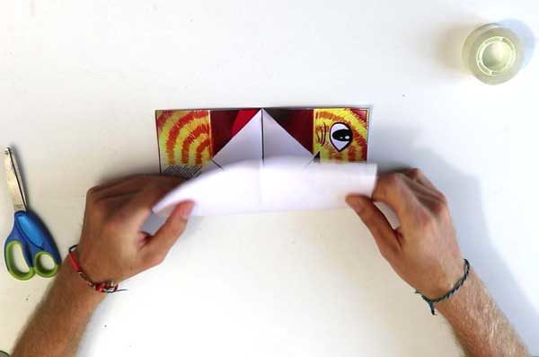 Faire une cocotte en papier - étape 2d