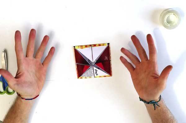 Faire une cocotte en papier - étape 4f