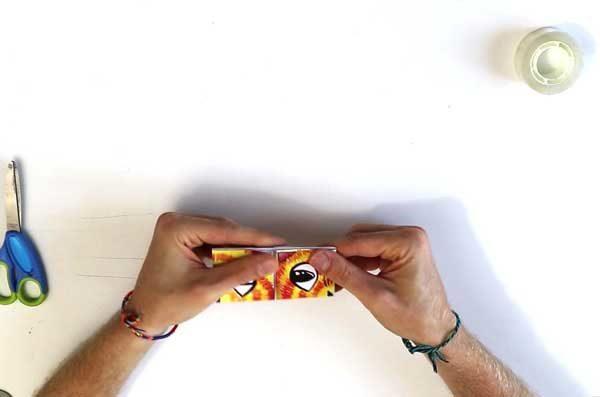 Fabriquer une cocotte en papier - étape 5