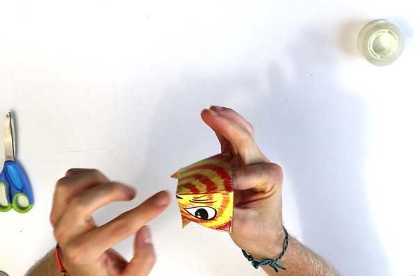 Construire un coin-coin en papier - étape 5b
