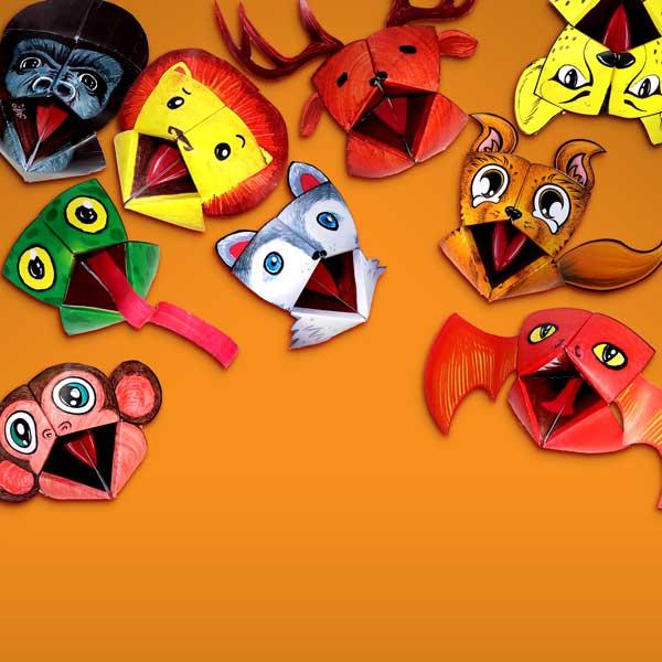 Cocottes Marionnettes en papier de Pliay