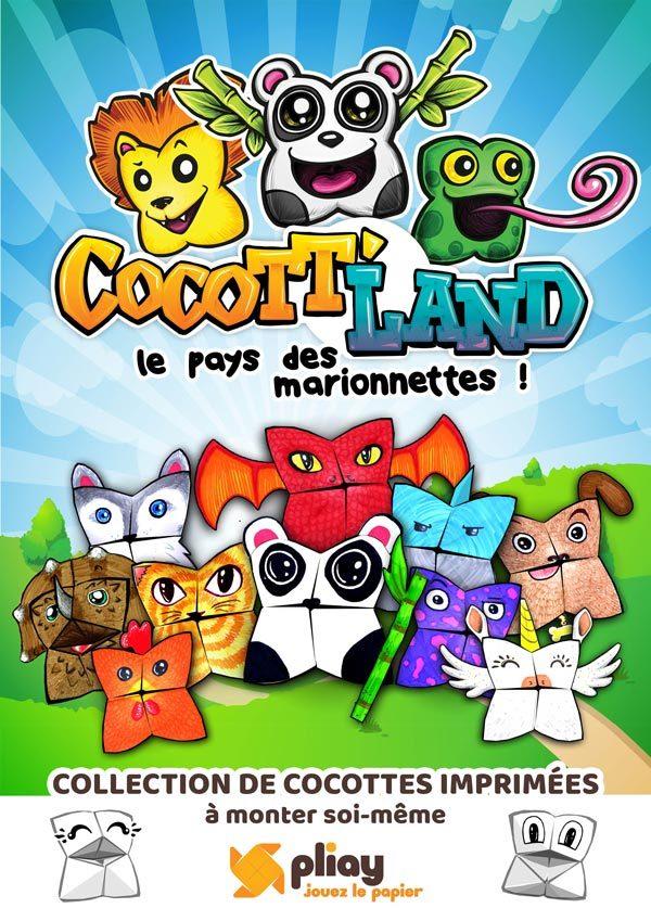 Jeu Pliay.fr - Cocotte Land - le pays des marionnettes en papier
