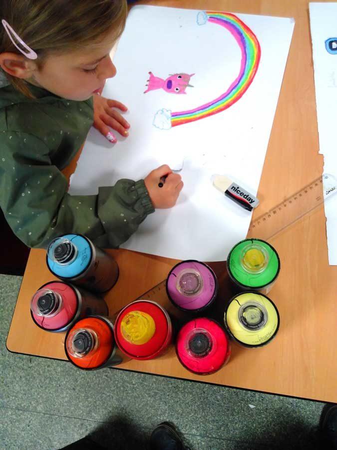 Cours de dessin et création de croquis avant l'Atelier Graffiti, la MJC Sud d'Annemasse