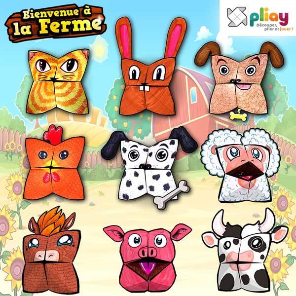 Pack Pliay.fr - Marionnettes des Animaux de la Ferme