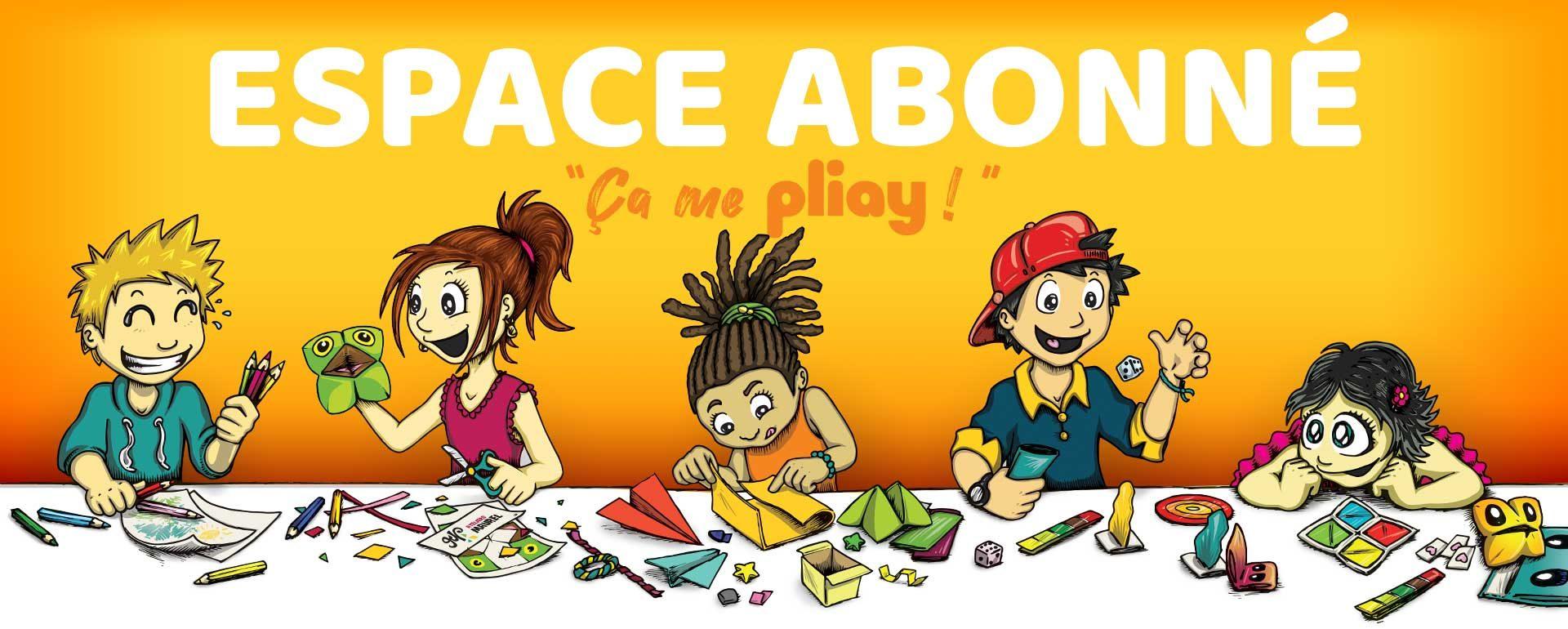 Enfants qui font des loisirs créatifs Pliay dans l'Espace Abonné
